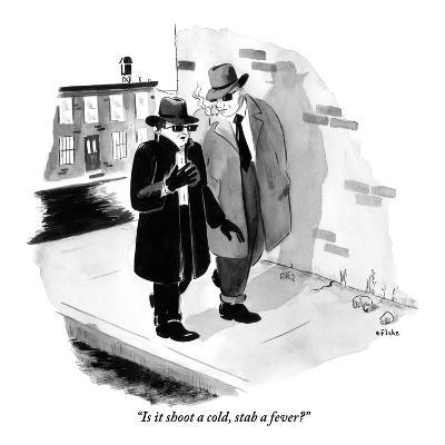 """Is it shoot a cold, stab a fever?"" - New Yorker Cartoon"