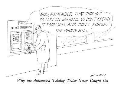 Why the Automated Talking Teller Never Caught On - New Yorker Cartoon