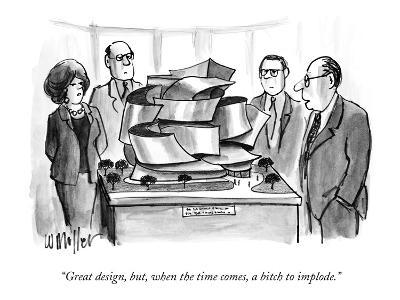 """""""Great design, but, when the time comes, a bitch to implode."""" - New Yorker Cartoon"""