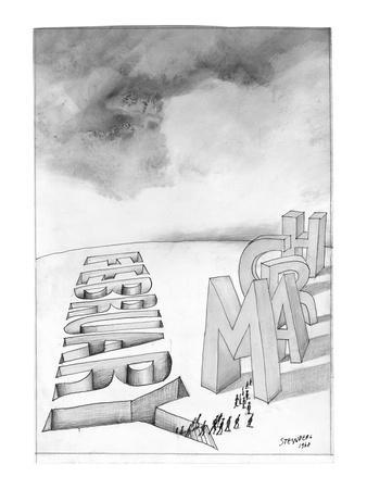 """""""February to March"""" - New Yorker Cartoon"""