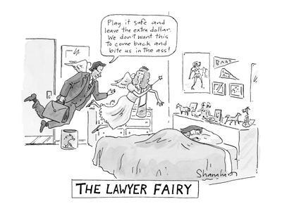 """The Lawyer Fairy"" - New Yorker Cartoon"