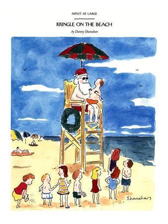 Kringle On The Beach - New Yorker Cartoon
