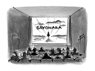 Sayonara' - New Yorker Cartoon