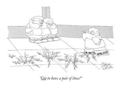 """""""Got to have a pair of those!"""" - New Yorker Cartoon"""