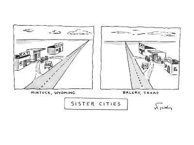 Sister Cities - New Yorker Cartoon