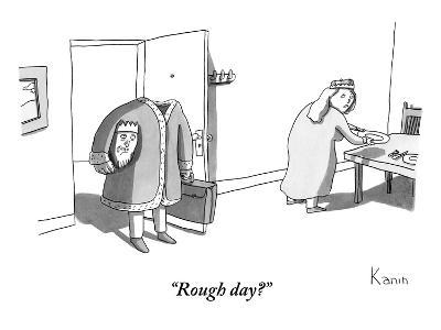 """Rough day?"" - New Yorker Cartoon"