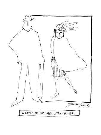 A Little of Him And Lots Of Her - New Yorker Cartoon