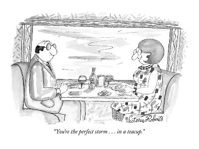 """""""You're the perfect storm . . . in a teacup."""" - New Yorker Cartoon"""