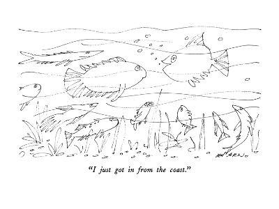 """""""I just got in from the coast."""" - New Yorker Cartoon"""