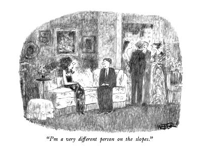 """""""I'm a very different person on the slopes."""" - New Yorker Cartoon"""