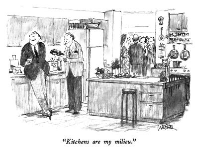"""""""Kitchens are my milieu."""" - New Yorker Cartoon"""