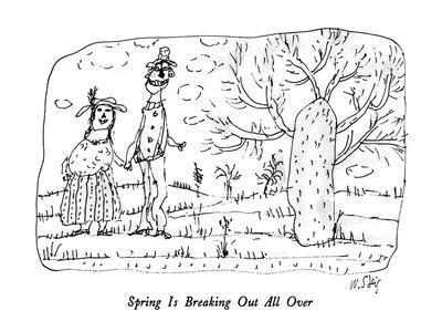 Spring Is Breaking Out All Over - New Yorker Cartoon