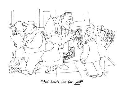"""""""And here's one for you!"""" - New Yorker Cartoon"""