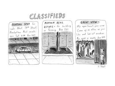 Classifieds - New Yorker Cartoon