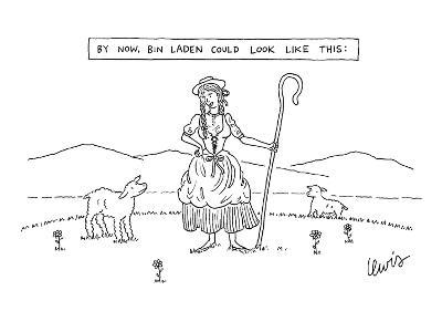 By Now, Bin Laden Could Look Like This: - New Yorker Cartoon