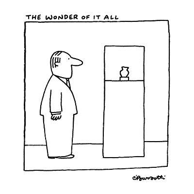 The Wonder Of It All - New Yorker Cartoon