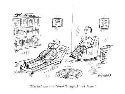 """This feels like a real breakthrough, Dr. Perlman."" - New Yorker Cartoon"