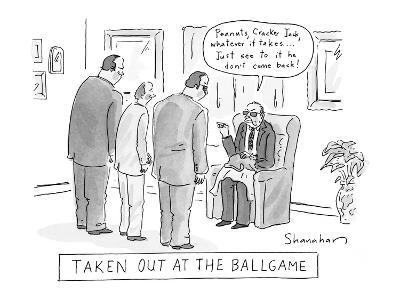 Taken Out At The Ballgame - New Yorker Cartoon