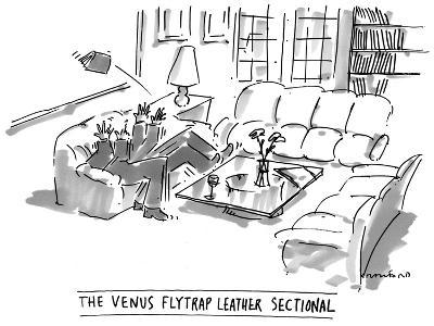 The Venus Flytrap Leather Sectional - New Yorker Cartoon