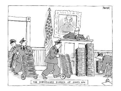 The Subpoenaed Diaries Of Anïs Nin - New Yorker Cartoon