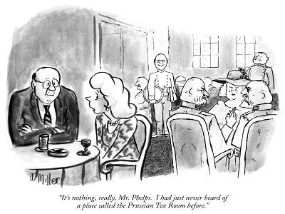 """It's nothing, really, Mr. Phelps.  I had just never heard of a place call…"" - New Yorker Cartoon"