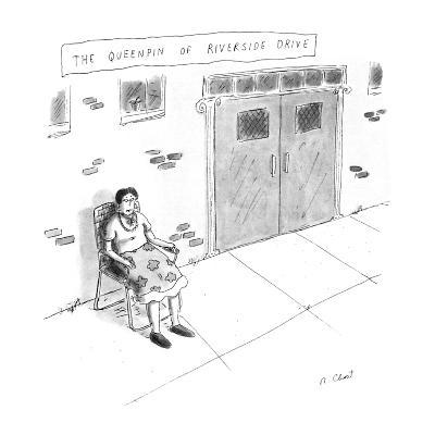 """""""The Queenpin of Riverside Drive"""" - New Yorker Cartoon"""