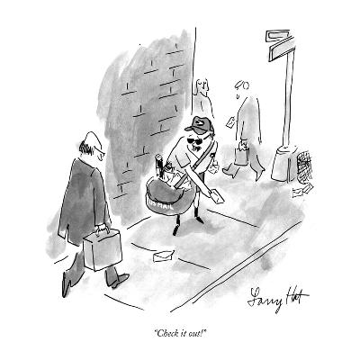 """Check it out!"" - New Yorker Cartoon"