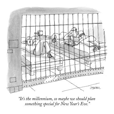 """""""It's the millennium, so maybe we should plan something special for New Ye…"""" - New Yorker Cartoon"""