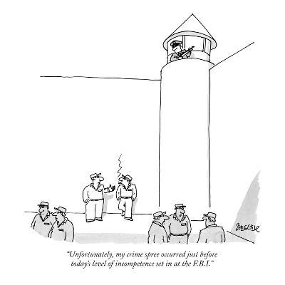 """Unfortunately, my crime spree occurred just before today's level of incom…"" - New Yorker Cartoon"