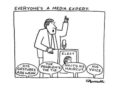 Everyone's a Media Expert - New Yorker Cartoon
