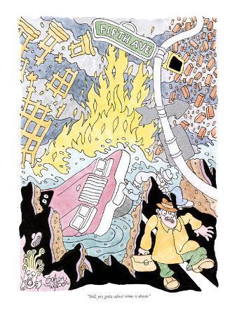 """Still, you gotta admit crime is down"" - New Yorker Cartoon"
