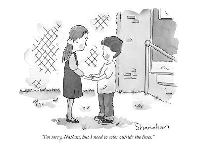 """I'm sorry, Nathan, but I need to color outside the lines."" - New Yorker Cartoon"