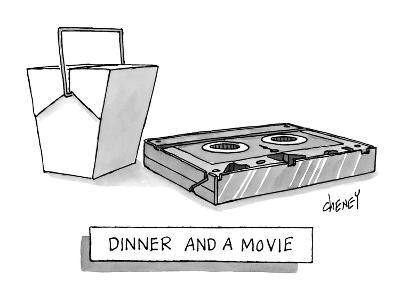 Dinner and a Movie - New Yorker Cartoon