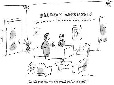 """""""Could you tell me the shock value of this?"""" - New Yorker Cartoon"""
