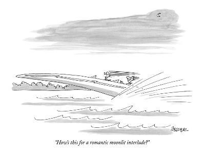 """How's this for a romantic moonlit interlude?"" - New Yorker Cartoon"