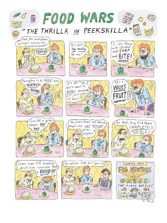 "Food Wars: ""Thrilla in Peekskilla"" - New Yorker Cartoon"
