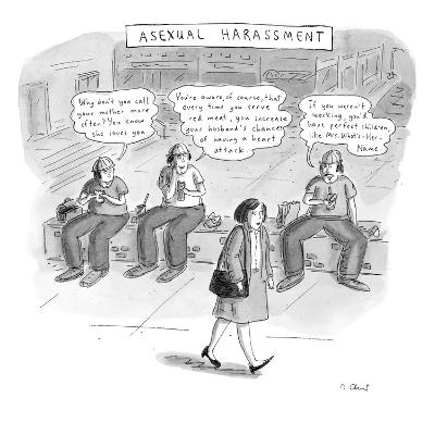Asexual Harassment - New Yorker Cartoon