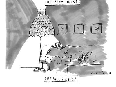 The Prom Dress: One Week Later' - New Yorker Cartoon