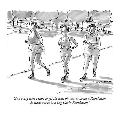"""And every time I start to get the least bit serious about a Republican he…"" - New Yorker Cartoon"