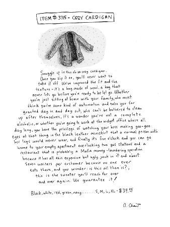 Item 3715 - Cozy Cardigan' - New Yorker Cartoon