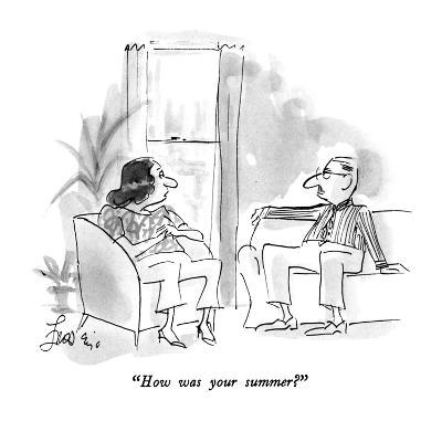 """How was your summer?"" - New Yorker Cartoon"