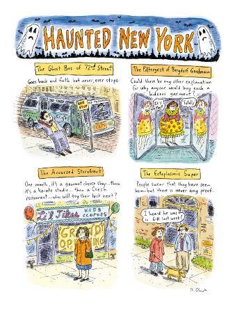 Haunted New York - New Yorker Cartoon