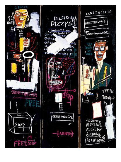 Horn Players, 1983 Giclee Print by Jean-Michel Basquiat at