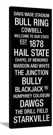 Mississippi State: College Town Wall Art
