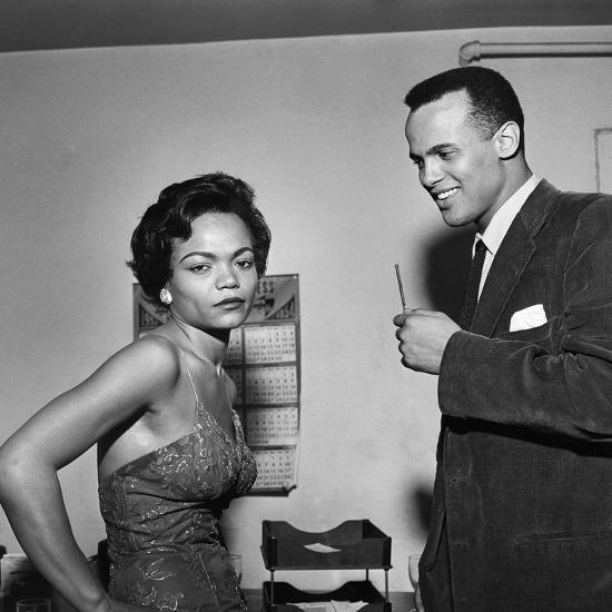 Eartha Kitt And Harry Belafonte Photographic Print By G