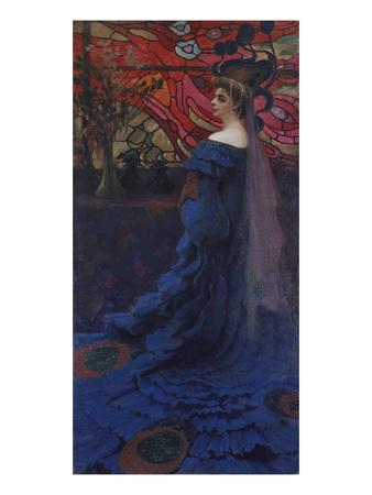 Woman at the Window (The Peacock). Portrait of Zofia Borucinska, 1908
