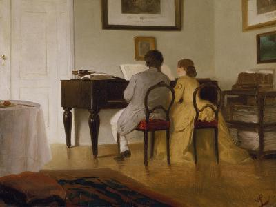 Die Musizierenden, 1856