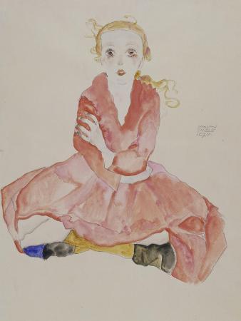 Sitzendes Maedchen, 1911