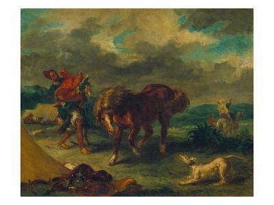 Marokkaner Und Pferd, 1857