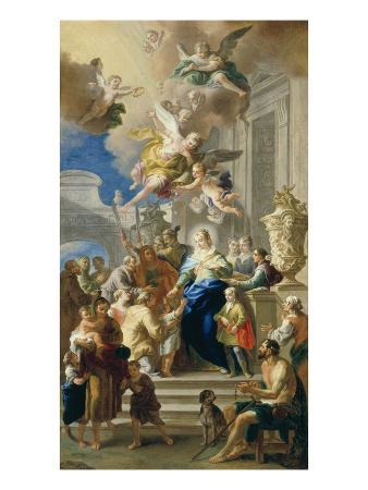 Saint Elizabeth of Hungary Giving Out Alms, 1736/37